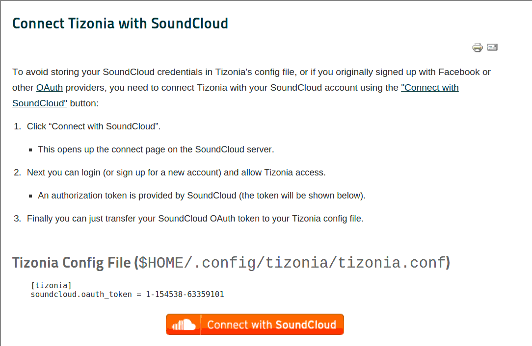 Connect with SoundCloud